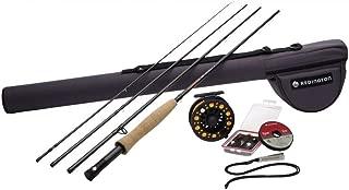 Redington Fly Fishing Fly Fishing 组合套装 590-4 Topo Ii 服装 带十字水的 5 瓦特 22.86cm 卷轴(Piece 4)
