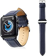 Apple Watch 38mm/软皮带/圆船型/黑色AW-42BDLRBBU 42mm 藏青色