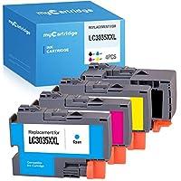 MYCARTRIDGE 兼容墨盒替换件适用于 Brother LC3035 XXL LC3035XXL 适用于 Brother MFC-J995DW MFC-J805DW MFC-J995DW XL MFC-J805DW XL MFC-J815DW XL (黑色,青色,洋红色,黄色,4 件装)