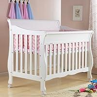 爱斯博儿欧式豪华婴儿床BB床 实木宝宝床 多功能儿童床可变成人床 (白色婴儿床)