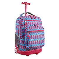 J World New York Kids' Sundance Laptop Rolling Backpack, Nordic, One Size
