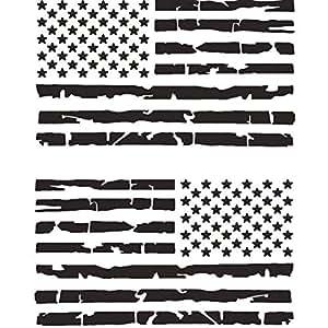 TOTOMO 美国国旗贴花 黑色 USF-02