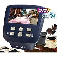 zonoz 数码胶片和幻灯片扫描仪 - 将 35mm、126、110、Super 8 和 8mm 胶片负片和滑片转换为 JPEG - 包括大型明亮的 5 英寸液晶屏,易装胶片插入适配器 FS-Five