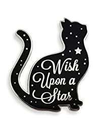 "Pinsanity""Wish Upon A Star""猫珐琅翻领别针"