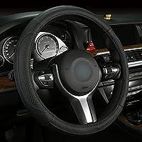 欧斯莱 牛皮四季把套雪佛兰科鲁兹迈锐宝赛欧创酷景程雪铁龙C5 宝马2系3系GT 5系GT7系X1X3X5 K10黑蓝线