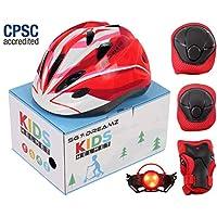 SG Dreamz 儿童头盔带防护装置 - 从幼儿到青少年尺寸可调节,适合 3 至 7 岁儿童 - 精美包装非常适合礼物 - 多种运动 LED *灯 - CSPC 认证
