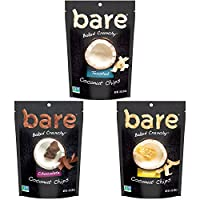 Bare Natural Coconut Chips, Variety Pack, Gluten Free + Baked, 1.4 Ounce (6 Count)