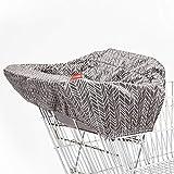 Skip Hop 紧凑型 2 合 1 高脚椅/购物车罩,圆点,多色 灰色
