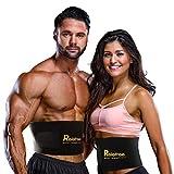 Relefree Waist Trimmer Belt, Adjustable Ab Sauna Belt for Women or Men with Maximum Abdominal Coverage-Non-Slip Surface for Max Waist Slimming