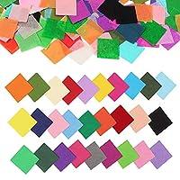 ZezzÐ4800PCS 纸巾方形 2.54 厘米艺术纸纸五彩纸屑方形各种颜色五彩纸屑气球婚礼生日派对桌子装饰儿童艺术工艺品 DIY