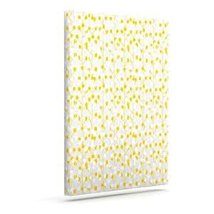 "Kess InHouse Julie Hamilton""柠檬滴""黄色灰色户外帆布墙艺术 16"" x 20"" 黄色 JH1007AAC03"