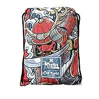 Ronin Gi 运动包 - Oni Bushi-Draw 绳背包 - 接触式运动背包适用于 BJJ,空手道,柔道,TKD,Kempo Gis - 女士,男士和儿童装备袋 - * 聚酯纤维 - 坚固的印花袋
