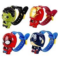 GFDay *英雄变形数字腕表玩具人偶手表适合儿童(02- 美国队长)