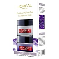 L'Oréal Paris 巴黎欧莱雅 高剂量玻尿酸抗老化礼品套装 Revitalift Filler日/夜间修护对抗皱纹
