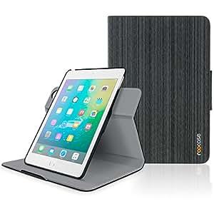 iPad Mini 1/2/3 Case, Apple iPad Mini Case, rooCASE Orb 360 Folio Leather Stand Slim Fit Smart cover with Sleep/Wake Feature for iPad Mini 1/2/3 with Retina Display, Canvas Black