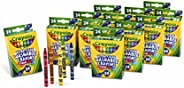 Crayola 绘儿乐 Ultra Clean 散装可水洗蜡笔 开学用品 每盒24支,12盒装