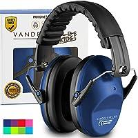 Vanderfields Earmuffs 儿童学步儿童*听力保护耳罩 - 适合小成人女士 - 可折叠设计护耳罩可调节衬垫头带降噪. 蓝色 8719558520435