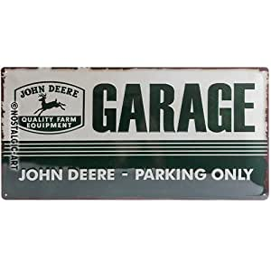 JOHN DEERE GARAGE PARKING ONLY 农场配件 3d-parent 彩色 50 x 25 cm 27013