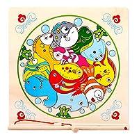 木马智慧木马智慧 双竿磁性钓鱼游戏过家家拼图拼版钓鱼玩具 年年有鱼 10150