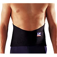 LP 美国欧比护具 护腰 771-01 高背型腰部护带 腰部拉伤扭伤 XL 黑色