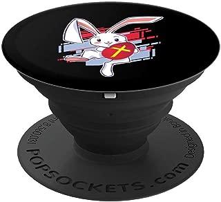 希腊欧斯托多复活节红蛋兔子PopSockets 手机和平板电脑握架260027  黑色