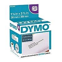 DYMO LW 邮寄地址标签 标签 标签打印机,白色,1-1/8 英寸 x 3-1/2 英寸,2 卷 260 (30572) 地址标签 2 Rolls of 350 白色