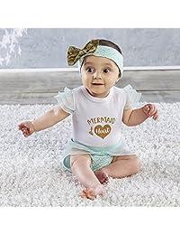 Baby Aspen 带头巾服装 My First Mermaid 0-6 个月