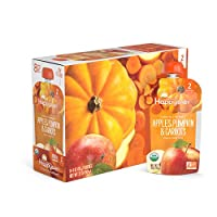 Happy Baby Clearly Crafted Organic Baby Food Stage 2, Apples Pumpkin & Carrots, 4 Ounce, 16 Count