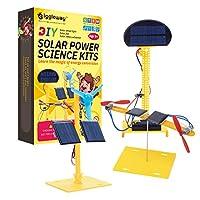 Giggleway 太阳能科学套件,DIY 迷你电机电路建筑 STEM 套件,工程科学实验太阳能教育套件,适用于儿童太阳能、太阳能旋转风车