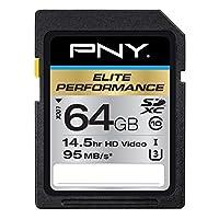 PNY Elite Performance 64GB闪存高速SDXC级 10 UHS-I (P-SDX64U395-GE)