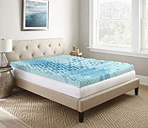 Broyhill GelLux 冷却*泡沫床垫 蓝色/白色 Queen HDDOD003LQN