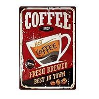 热咖啡新鲜酿造的 Best in Town 金属标志复古家居装饰。 TSC193 平板电脑保护套