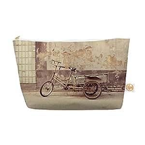 "Jillian Audrey Kess InHouse Everything Bag 锥形小包 12.5 x 7 英寸""灰色自行车""棕色摄影品 (JA1007AEP04)"