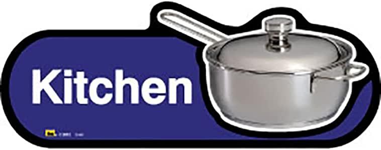 Dementia Friendly 厨房房 - 蓝色标牌 -400 毫米宽,带螺丝固定