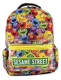 Sesame Street Gang Elmo 男孩女孩 16 英寸书包(均码,多色)
