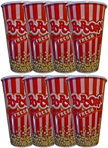 Black Duck 品牌个人尺寸塑料红色爆米花桶趣味设计 完美尺寸 红色和白色 小号 Black Duck Popcorn
