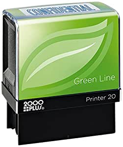 2000PLUS 绿色线自动充墨消息印章,传真 Confidential