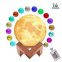 夜灯照明 LED 3D 打印暖月亮灯触摸控制亮度礼品适合儿童和万圣节设备