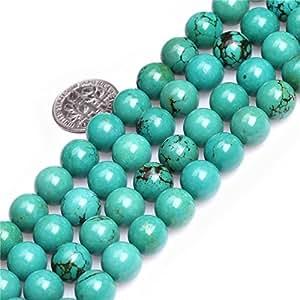 4mm 圆形宝石旧天然蓝*珠串 38.1cm 首饰制作珠子 Round Blue 04 10mm ART4086