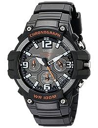 Casio 卡西欧男士 MCW-100H-1AVCF 高耐设计手表,配黑色硅胶表带