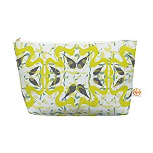 """Kess InHouse Everything Bag, Tapered Pouch, Miranda Mol """"Azulejos"""", 8.5 x 4 Inches (MM4044AEP03)"""