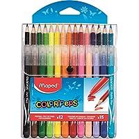 Maped M897412 – 组合包装 彩色猪头丛林,12支毡笔,15支彩色铅笔