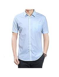 夏季新款男士小清新休闲短袖衬衫
