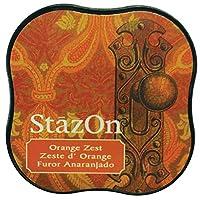 Tsukineko StazOn 迷笛护垫,樱桃粉色_父色 橙色背心 SZMID-71