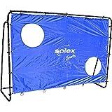 带网和球门的足球门 - Solex 足球球门 2 合 1 套装 - 儿童门和门球门 适用于足球训练、射击训练和户外花园的门