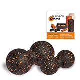 Blackroll orange (原始) - 自按摩滚轮 - TwinBALL 橙色套装,8 和 12 厘米,包括 练习手册