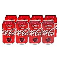 Cocacola 可口可乐 樱桃口味汽水330ml*8 整箱(英国进口)