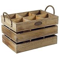 Aubry Gaspard 盒,带 6 个隔层老木