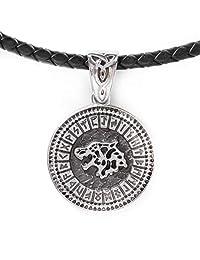 HAQUIL Wolf Jewelry Runes Viking Wolf 女式项链