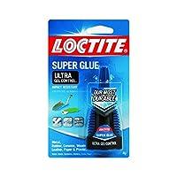 Loctite 1363589-6 Ultra Gel Control 强力胶水,4g 瓶(6 瓶装) 4 Pack